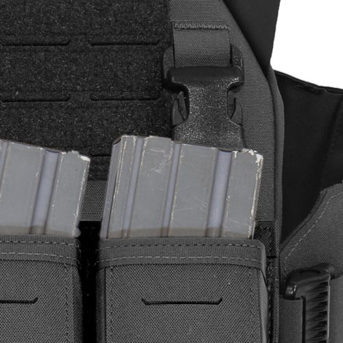 Warrior Assault Systems Laser Cut Detachable Triple Snap Mag Pouch - Black